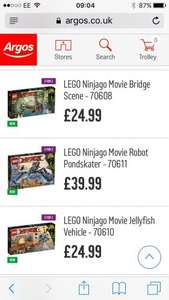 Lego ninjago movie Lego sets - newly released included in 3 for 2 @ Argos