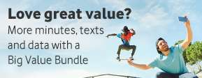 Vodafone £5 Pay as you go Big Value Bundle