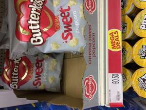 Butterkist cinema popcorn in sweet or salted flavour 50p Poundworld instore