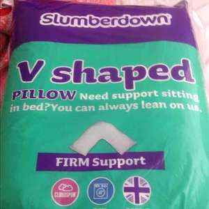 Slumberdown V shaped pillow only £2.99 instore at Aldi