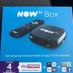 Now Tv Box Incl 4 month Sky Cinema - £10 instore @ Tesco Horsham