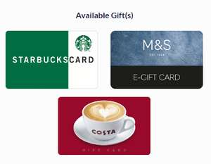 Book with NCP Car Parks and you'll get a Free £10 Starbucks, Costa or Marks & Spencer Gift card (Selected car parks)