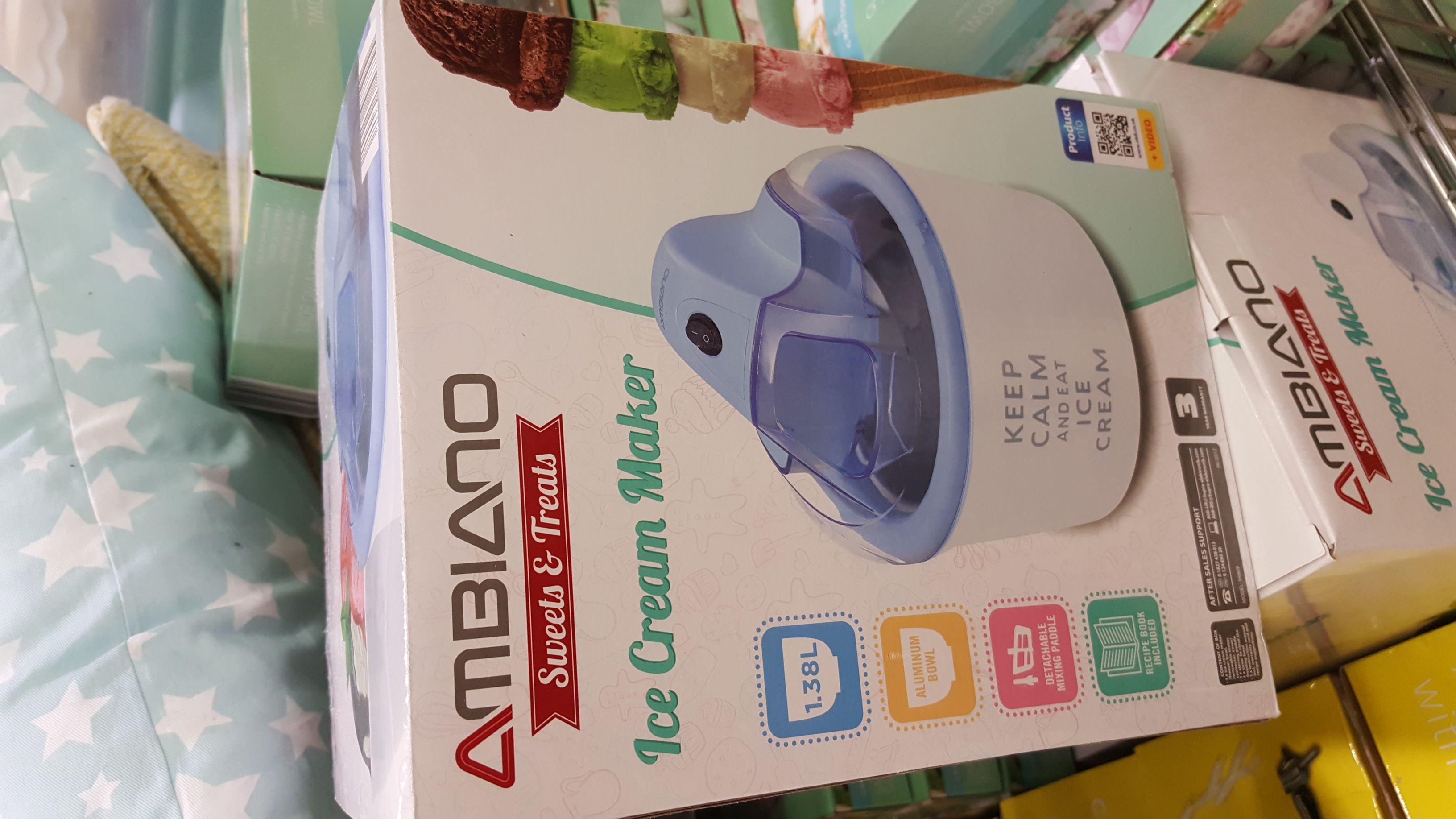 Ambiano Ice Cream Maker £14.99 @ Aldi yarm