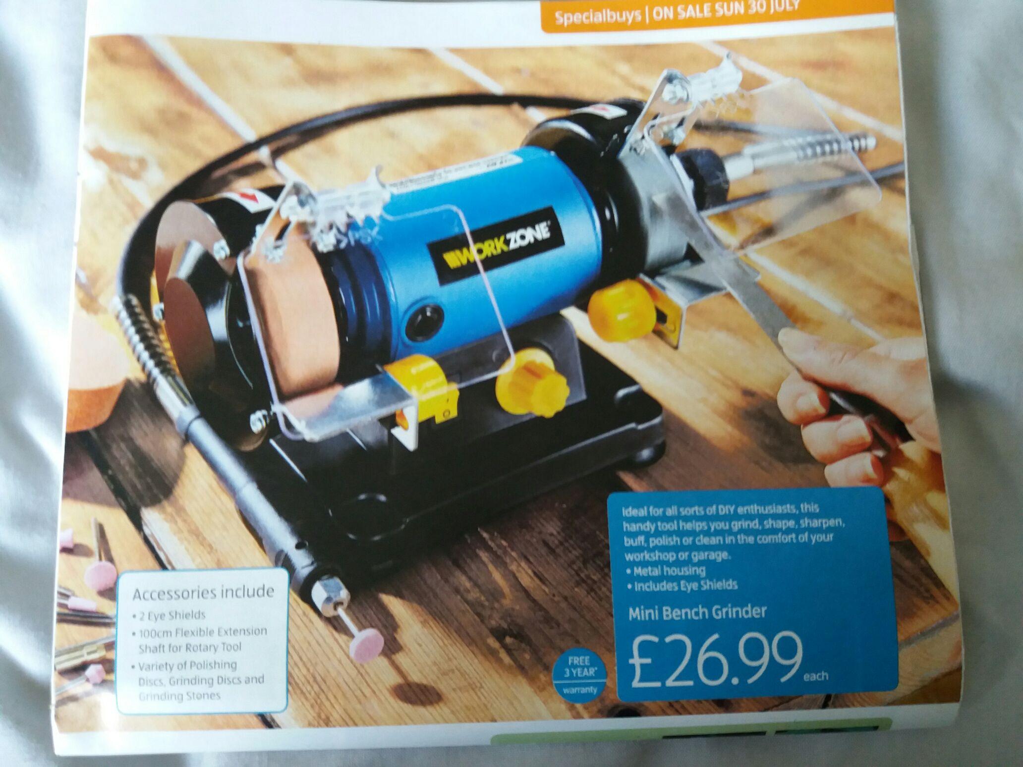 DIY Bench Grinder £26.99 @ Aldi