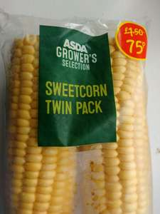 Sweet corn twin pack for 75p in ASDA