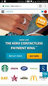 Kerv Contactless Payment Ring - £10 off