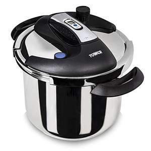 Tower One-Touch Pressure Cooker, 6 L - Stainless Steel £38.99 Amazon