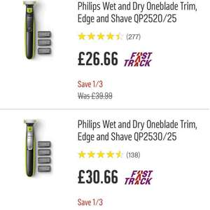 Philips OneBlade Trim 1/3 off the price amazing deal - cheapest I've ever seen it and an amazing product £26.66 @ Argos