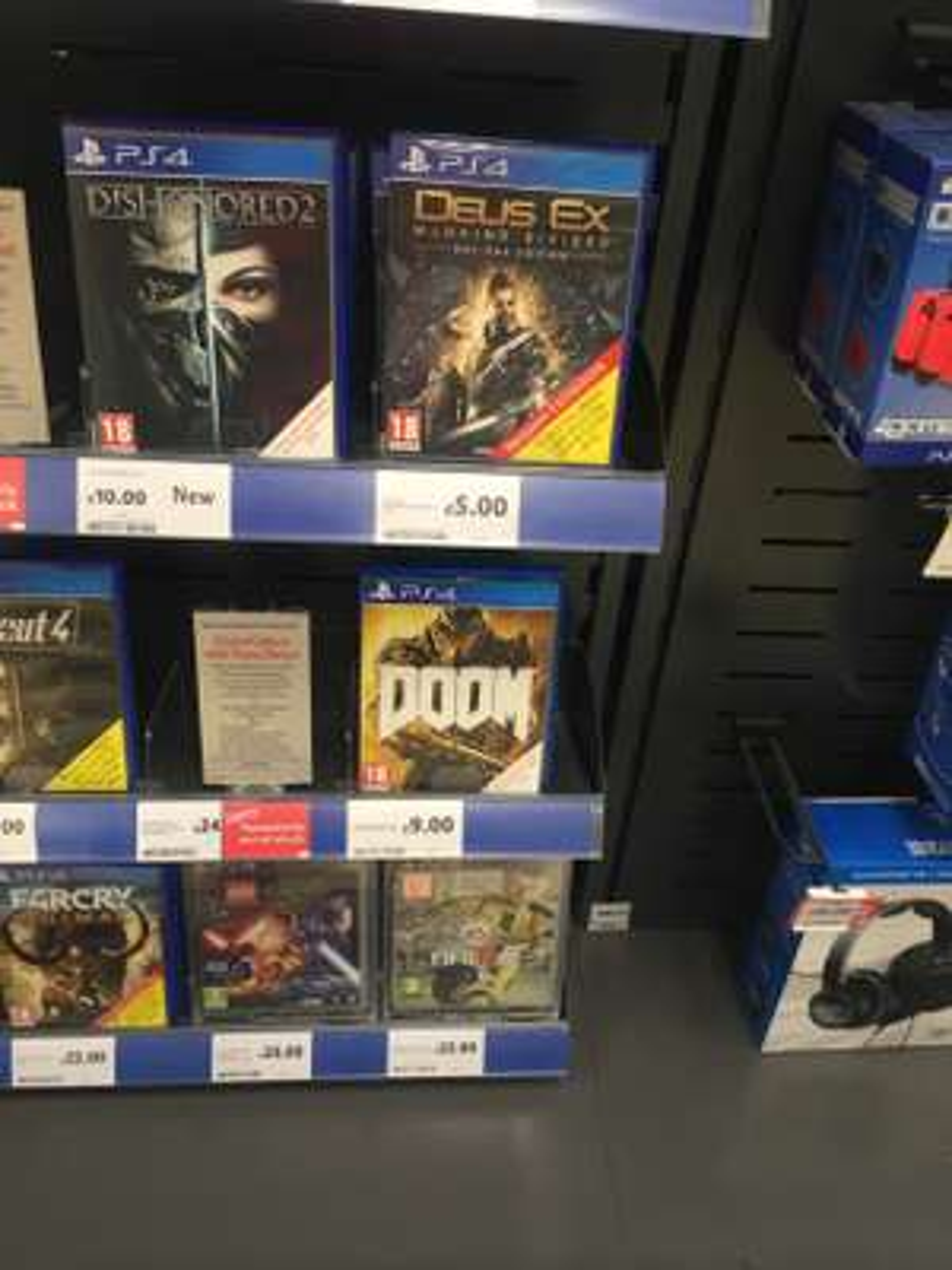 Doom (PS4) £9, Deus Ex (PS4) £5 at Tesco (Gateshead)