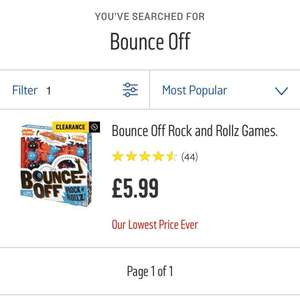 Bounce Off Rock & Rollz Game - Free C&C £5.99 - Argos
