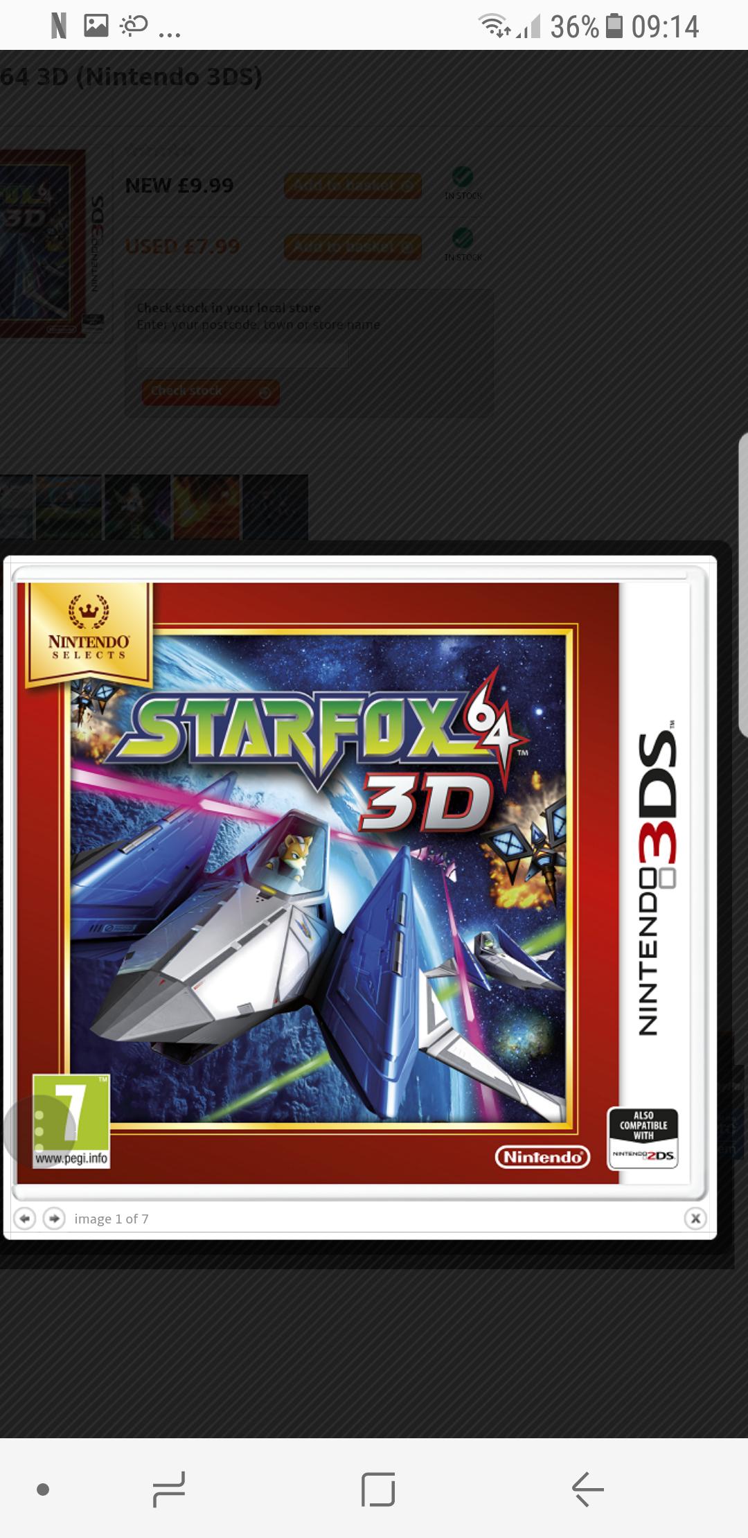 Star Fox 64 3DS - £9.99 at grainger games