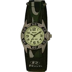 Ravel Children's Glow in the Dark Green Camouflage Strap Watch £6.84 (Prime) / £10.83 (non Prime) at Amazon