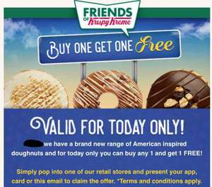 2 For 1 American Donuts at KrispyKreme