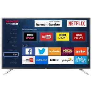Sharp 49 Inch LC-49CFG6021K Smart Full HD LED TV with Freeview HD @ Tesco Direct (£299.00)