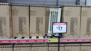 Oil Radiator 1.1Kw £17 from B&Q