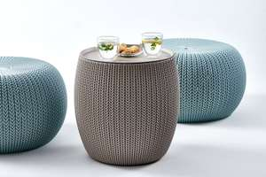 Keter Knit Indoor/Outdoor Ottoman Seat and Table Set £49.99 / Seat alone £19.99 @ Amazon