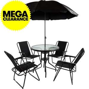 Rimini Garden Dining Set 4 Seater with Parasol Just £41.99 (£4.99 P&P) @ JTF