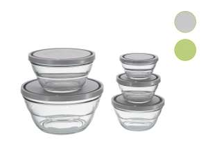 Ernesto glass food storage containers with lids (5 piece set) for £7.99 @ LIDL