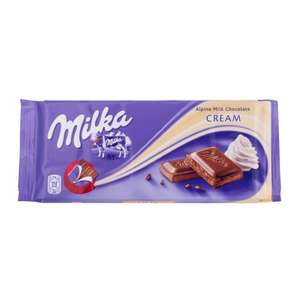 Milka Chocolate Cream Bar (100g) Only 50p @ Poundstretcher