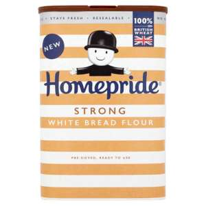 Homepride Strong White Bread Flour 59p 1kg @ Home bargains
