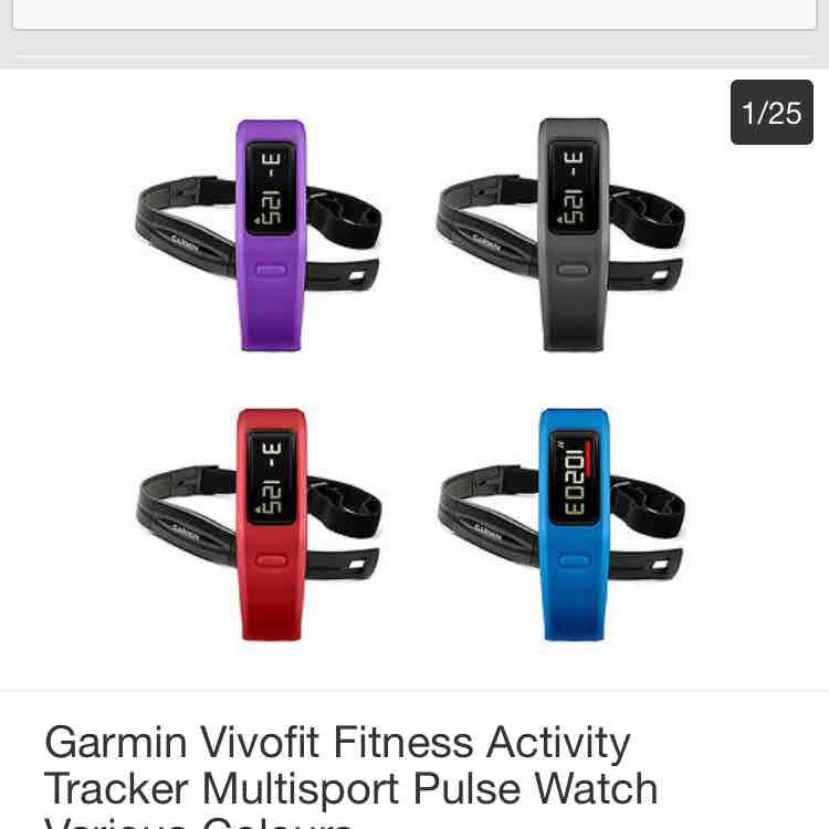 Garmin Vivofit fitness tracker & watch £32.50 Tesco eBay outlet