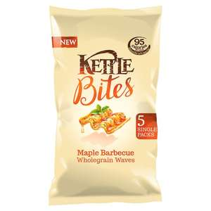 Kettle Bites Maple Bbq Waves Snacks (5 x 22g) was £1.50 now 75p @ Tesco