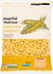 Essential Waitrose Super-sweet Sweetcorn (1kg) was £1.95 now £1.00 @ Waitrose