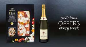 M&S Pizza and Prosecco £10