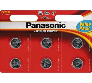 Panasonic 2032 Batteries - 6 Pack  £1.49  Argos