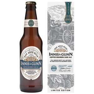Innis & Gunn Hopped Bourbon Cask Ale Limited Edition 7.4% 330ml Gift Box £1.79 @ B&M
