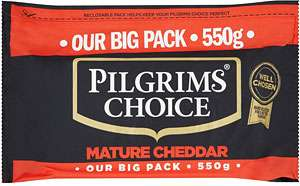 Pilgrims Choice Mature Cheddar 550g £2.50 at Tesco great price ( equiv £4.55/Kg)