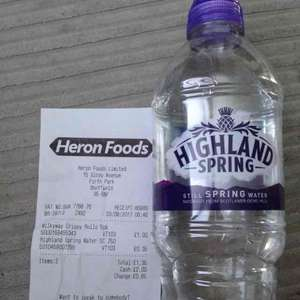 highland spring sports cap 750ml 35p heron foods and 40p cash back from topcashback