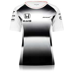 McLaren Honda Official 2016 Team T-Shirt £2.50  + £4.95 p&p - Womens