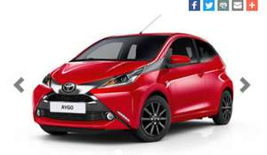 Toyota Aygo Leasing from £89.49 + VAT p/m 48 months admin fee £180 initial rental £809.91 - £6047.33 @ Gateway2lease