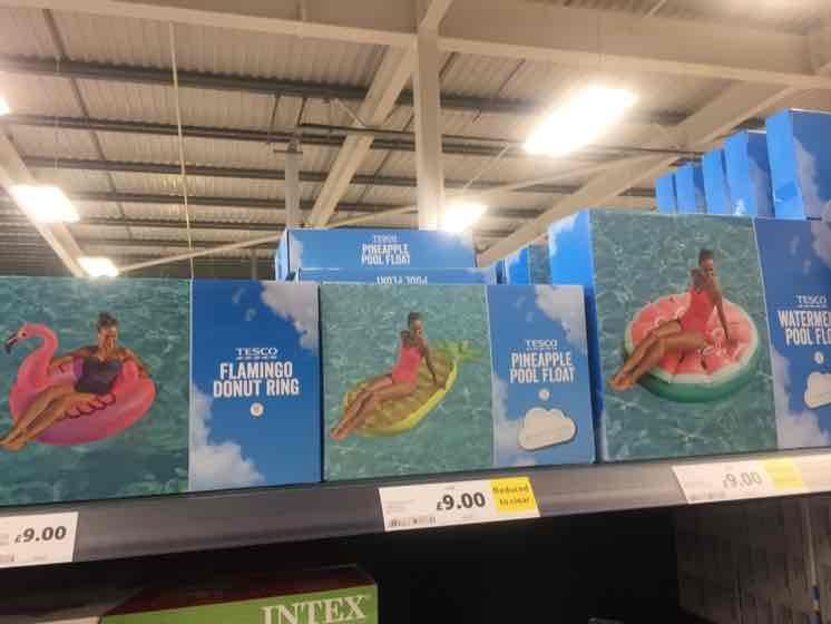 Tesco Giant Swim Inflatables - Flamingo, melon, pineapples etc £9