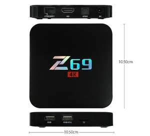 Z69 S905X 3GB/32GB 4K UHD Smart TV BOX KODI Android 6.0 802.11b/g/n LAN Bluetooth £31.15 with code @ geekbuying