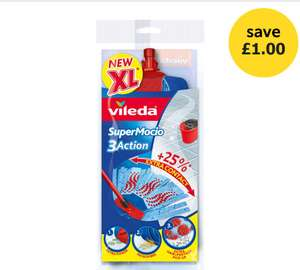 Vileda SuperMocio 3 Action Refill £2.50 or Mop and head £4 @ Wilko instore and free C+C