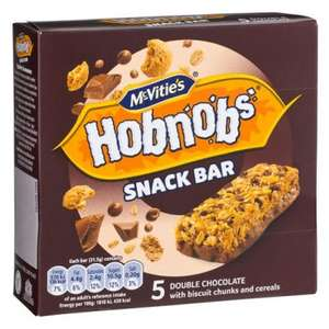 McVitie's Hobnobs Snack Bar Double Chocolate (5 Pack =150g) Only £1.00 @ Poundland