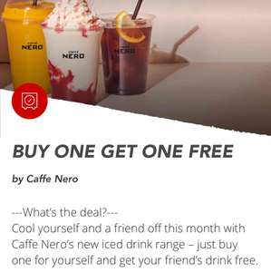 Caffè Nero- Buy 1 get 1 free via virgin red app
