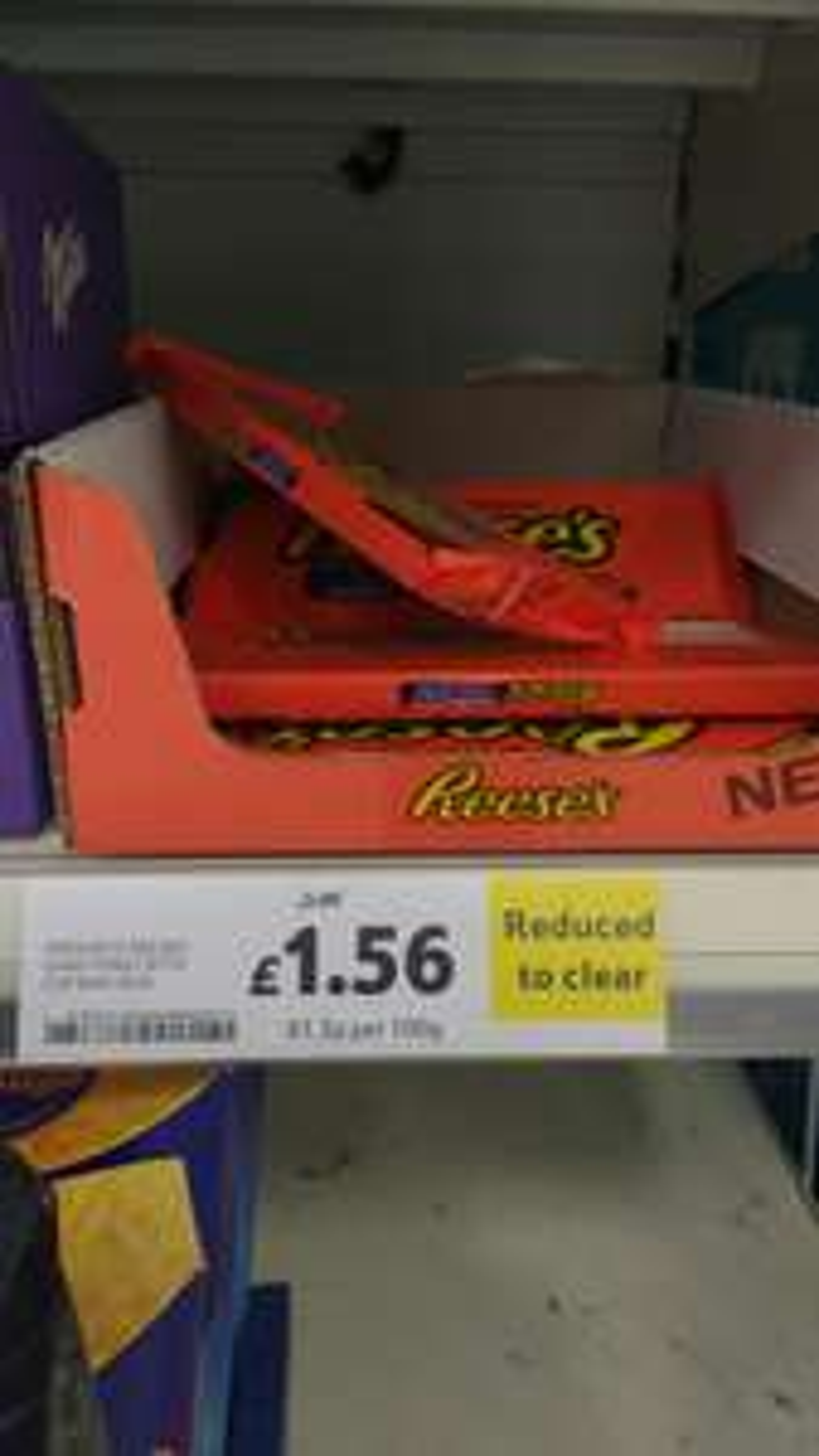 Reese's giant peanut butter bar £1.56 instore Tesco swan Birmingham
