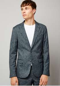 Blue Cross Hatch Tailored Suit Jacket £16  / £19.99 delivered @ Newlook