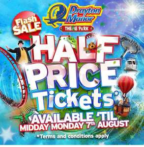 Drayton manor tickets flash sale