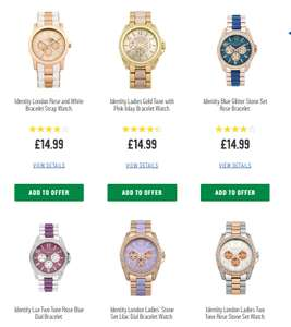 Buy a Identity London watch and get 2nd one half price @ Argos