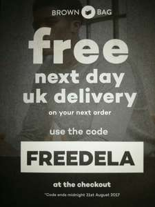 Free next day delivery with Brown Bag Clothing