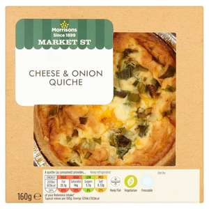 Morrisons Cheese & Onion quiche 160g 1p!