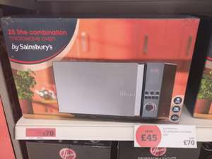 Combination microwave 25l Sainsbury's. £70 from £115
