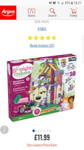K'Nex Mighty Makers Inventors Clubhouse £11.99 at Argos with free click & collect