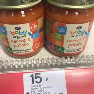 Boots Baby Organic Carrot & Potato Stage 1 4-6months+ 125g 15p