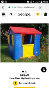 Asda- little tikes playhouse £85- half price -  £42.50, Now halved again in some stores! £21!