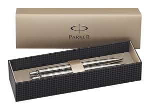 Cracking deal on this Parker Jotter for anyone looking for a classy ballpoint and mechanical pencil set Parker Jotter Stainless Steel Chrome Trim Ball Pen and Mechanical Pencil Set £12.29 (Prime) @ Amazon
